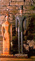 Antique wooden figurines