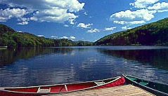 Serene waters make canoeing at Hawk ideal