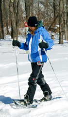 Snowshoeing is a great, complete body, workout