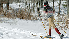 Cross-country skiing at Hawk is the purest form of skiing available
