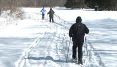 Hawk is the ideal location for a day of snowshoeing