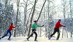 Cross-country skiing is a great group activity